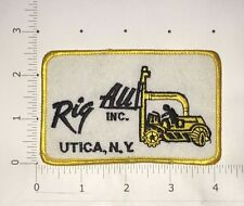 Rig All Inc Patch - Utica New York - vintage