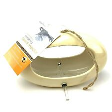 CHAPELWOOD Contemporary Creme Color Ceramic Bird Seed Feeder