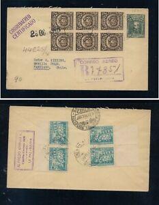 Bolivia nice franking registered  postal  envelope   cover  to  Chile
