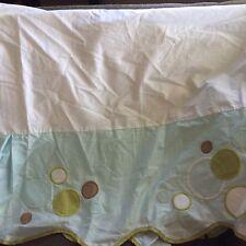 Migi Baby Crib Skirt Dust Ruffle Fish Bubbles Splash Unisex Boy Girl Blue Green