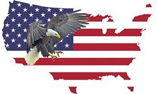 American Eagle Flag Country Outline USA Patriotic Auto Bumper Sticker Decal Car