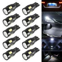 10pcs T10 W5W 501 LED ampoules 6 feux intérieur voiture SMD lampe Canbus