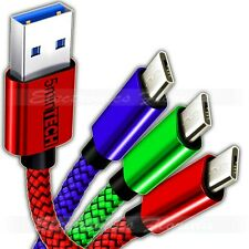 3 PACK -  <Micro USB> Nylon Braided Data, Sync, Charger, & Charging Cable Cord