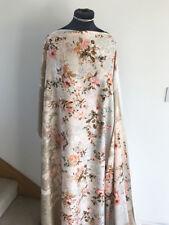 Oriental Inspired Panel Print Floral/Flower Jacquard Silky Dressmaking Fabric