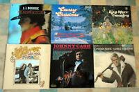 Country & Western Job lot bundle of 6 vinyl LP records