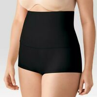 Maidenform Self Expressions Women's Tame Your Tummy High Waist Boyshorts Black S