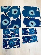 Marimekko Small Fabric Blue Unikko