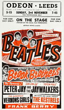 THE BEATLES ON STAGE POSTER- EARLY SHOW  U.K. 1963 UNIQUE  AT EBAY- ONLY  $5.99