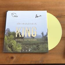 """Reverend And The Makers - The Death Of A King 12"""" Yellow Vinyl Signed Autograph"""