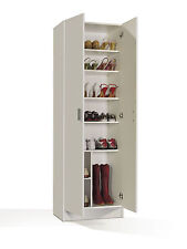Universal Multi Tall Wide White Storage Shoe Utility Laundry Cupboard Shelving