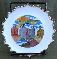Vintage Rochester, Minnesota Fairway Decorative Plate, Mayo Clinic, Hospital