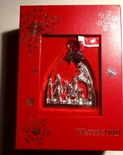 *NEW* Waterford Crystal Christmas Ornament SILVER PASSAGE TO BETHLEHEM NIB