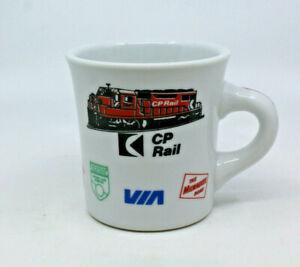 CP Rail Canadian Pacific VIA NAR CAC Train Logos Ceramic Coffee Mug Cup AS-IS