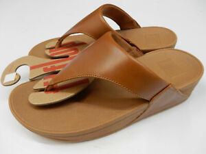 FitFlop Womens LuLu Leather Toepost Light Tan 7