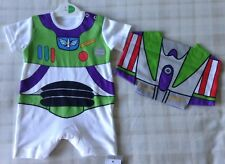 Baby Boy Disney Toy Story Buzz Lightyear Bodysuit/Vest/Romper With Wings Newborn
