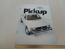 brochure originale 1982 Volkswagen pickup Caddy pick-up usa versione in inglese