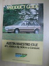 Austin Maestro 1.3 LE brochure Prospekt Dutch text 8 pgs 1983