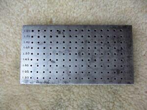 Zieheisen rund 1,3 mm - 1,7 mm 135 Loch
