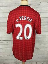Men's Manchester United Home Shirt - XL - 2012/13 - #20 V.PERSIE - Nike