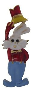 Enamel Mad Hatter Brooch / Rabbit Brooch / Brooch Bouquet / Enamel Rabbit