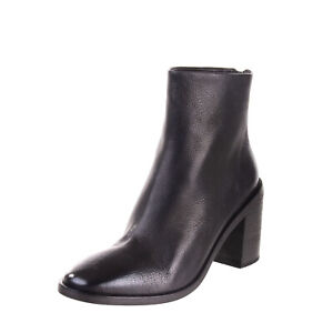 RRP €755 MARSELL Leather Ankle Boots Size 38 UK 5 US 8 Grainy Heel Made in Italy