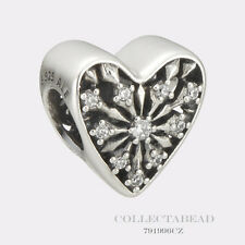 Authentic Pandora Silver Heart of Winter with Clear CZ Bead 791996CZ