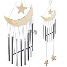 Star&Moon Wooden WindChimes Outdoor Garden Décor Hanging Wind Chime Beige Color