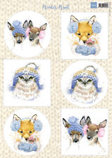 NON DIE CUT TOPPERS FOR CARDS OR CRAFTS - MARIANNE WINTER WOOL BLUE