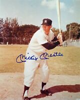 Mickey Mantle Autographed Signed 8x10 Photo ( HOF Yankees ) REPRINT