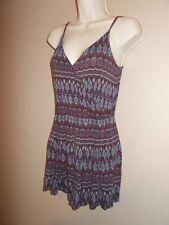 Garage Womens Size XS Romper Fair Isle Multi-Color Pattern Stretch Fabric
