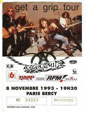 AEROSMITH - ticket invitation  1993