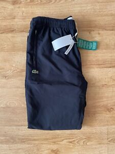 Lacoste Track Pants Blue Water Repellent Shell Bottoms Tracksuit Size 4