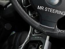 Pour Nissan Note MK1 04-12 Volant en cuir couverture Gris clair double stitch