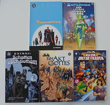 5x DC-Premium, JLA/Superman/Batman - Schatten über Gotham - Band 2+6+11+14. SC