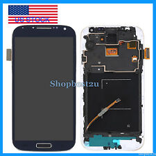 Blue Samsung Galaxy S4 i545 L720 R970 LCD Digitizer Screen Frame Assembly