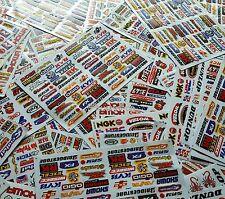 10 Mixed Random Sheets Stickers Motorcycle Car ATV Racing Dirt Bike Helmet Decal