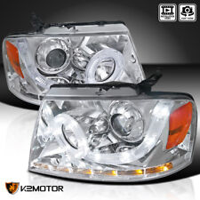 2004-2008 Ford F150 Halo+LED Strip Signal Projector Headlights Left+Right