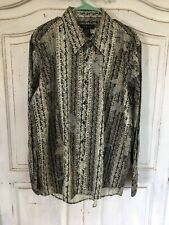 J. Ferrar Mens XL 17 1/2 Long Sleeve Button Down Dress Shirt. Black And Tan NWOT