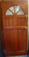 WHOLESALE PRICE ANTIQUE EXTERIOR SOLID WOOD DOOR W/ GLASS PANE ARCH ESTATE # 55