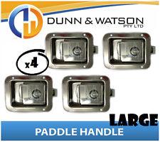 Large Paddle Handle (Lock, Latch) x4 Camper Trailer, Caravan, Toolbox, Motorhome