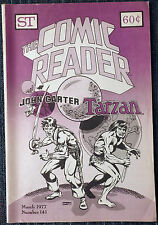 The Comic Reader #141 - 1977 Newzine - Tarzan and John Carter cover!