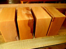 FOUR (4) BEAUTIFUL BEECH BOWL TURNING BLANKS LUMBER WOOD LATHE CARVE 6 X 6 X 3""