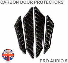 4x Carbon Black Door Edge Protectors Universal Car Van Truck - UK Post