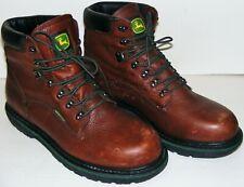 Pre-Owned John Deere Work Boots Size 14 Waterproof JD6283 Dark Brown Lace Up
