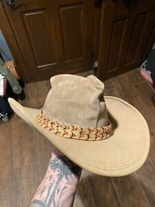 Resistol Self Conforming Leather Western Hat 6 7/8 Brown Band