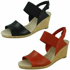 Clarks Ladies Wedged Sandals - Lafley Lily