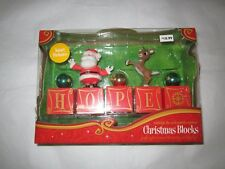 Rudolph and the Island of Misfit Toys Santa Christmas HOPE Blocks Red Reindeer