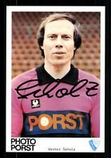 Werner Scholz Autogrammkarte VFL Bochum 1980-81 Original Signiert + A 86061