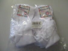 GARANIMALS   4 Pairs of WHITE Socks with Lace Polyester/Cotton/Spandex 18-36 Mon