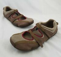 Teva Women's Mary Janes Sandals Shoes Size 11 Brown Tan Maroon EUC 6962 C18
